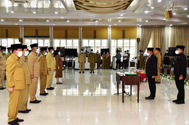 Gubernur Sumut Kukuhkan 40 Pejabat Eselon II dan III