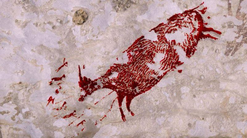 Lukisan hewan tertua di dunia ditemukan di Sulawesi,  berusia 45.500 tahun