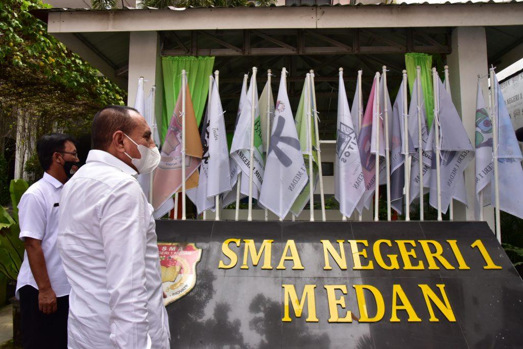 Gubsu Edy Resmikan Revitalisasi SMAN 1 Medan