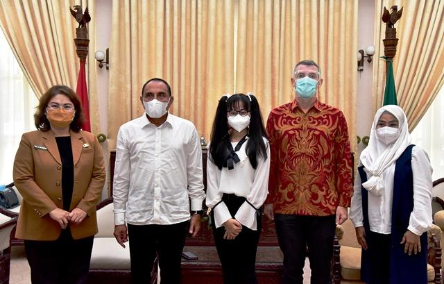 Gubernur Edy Rahmayadi Ajak Warga Sumut Dukung Nikita Mawarni