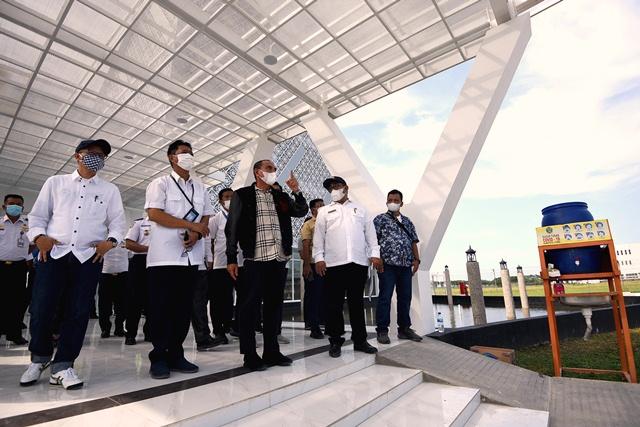 Gubernur Edy Rahmayadi Tinjau Pembangunan Gedung VIP Bandara Kualanamu