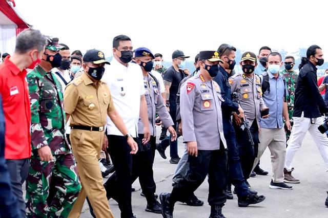 Gubernur Edy Rahmayadi Apresiasi Vaksinasi Drive Thru di Lanud Soewondo