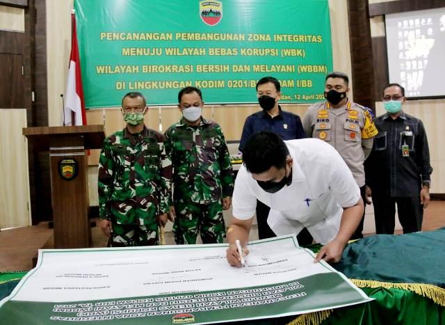 Wali Kota Medan Dukung  Zona Integritas di Lingkungan Kodim 0201/BS