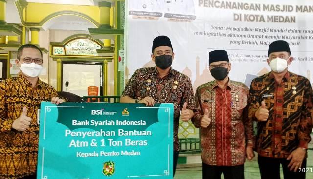 Bank Syariah Indonesia Kuatkan Pemberdayaan Masjid di Medan