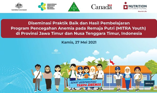 Pemerintah Indonesia dan Nutrition International Berbagi Pembelajaran lewat intervensi Gizi Remaja dalam mencegah Anemia