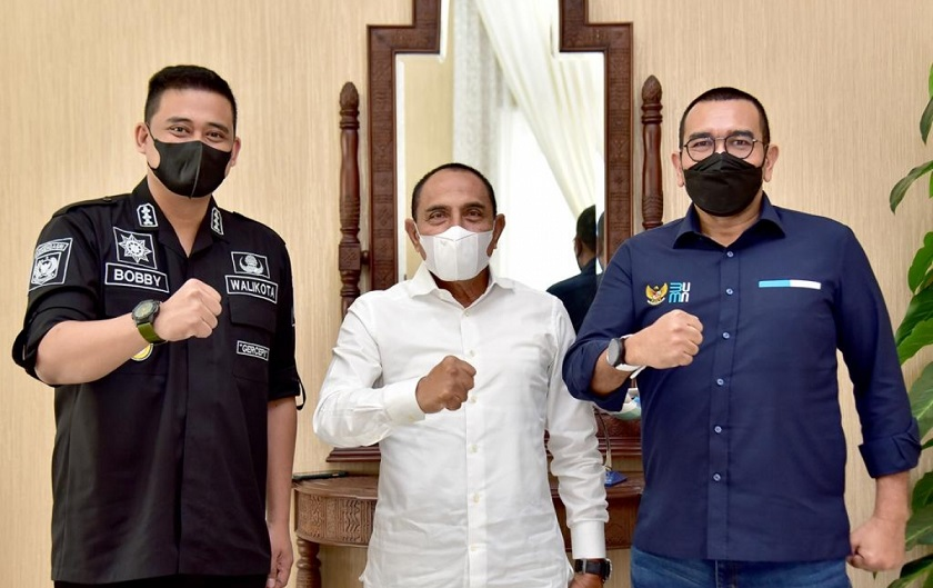Bersama Arya Sinulingga, Walikota Bobby Kembali Temui Gubsu Edy