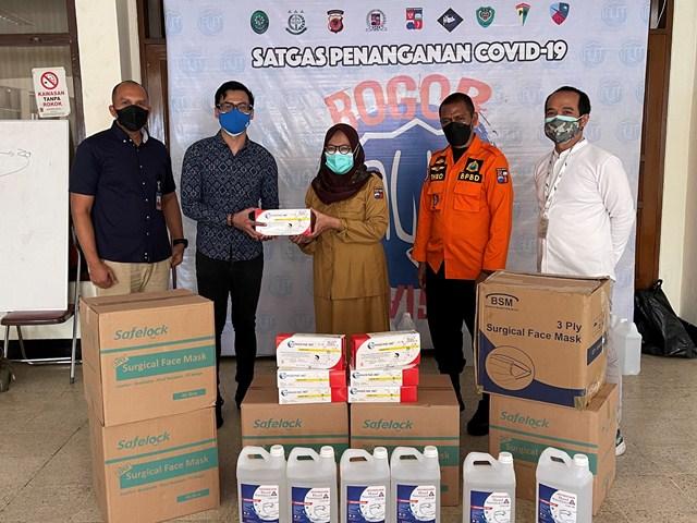 DANA Serahkan Bantuan untuk Penanganan Pandemi di Bogor
