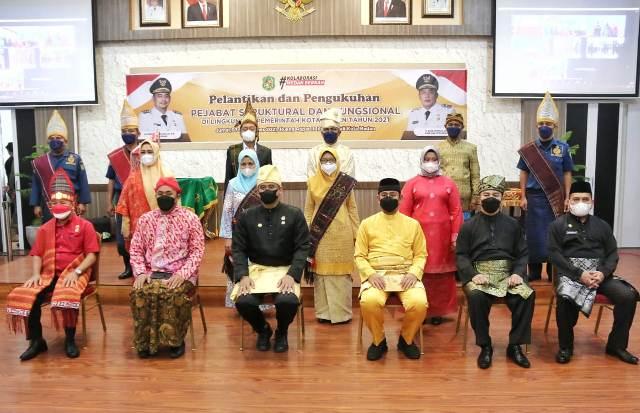 Wali Kota Medan Melantik dan Mengukuhkan 95 Orang Pejabat Struktural dan Fungsional Di Lingkungan Pemko Medan