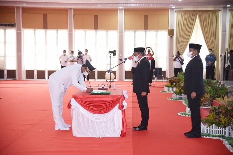 Lantik Wakil Walikota Binjai, Gubsu: Kepala dan Leher Harus Bersinergi