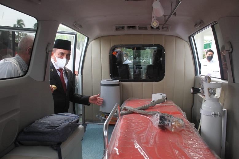 Terima Ambulans dari Gapkindo, Gubsu: Mudah-mudahan Jarang Dipakai